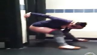 College amateur peeing on the toilet floor--_short_preview.mp4