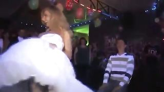 Foxy slim blonde performs a sensual striptease in a wedding dress--_short_preview.mp4