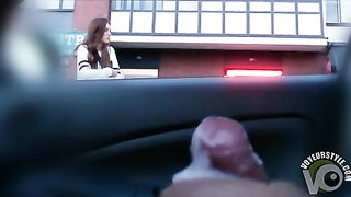 Female pedestrian watches man masturbate in his car--_short_preview.mp4