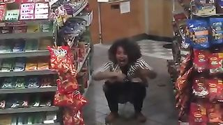 Wicked black girl decides to urinate in the supermarket--_short_preview.mp4