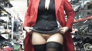 Lady flashes crotch at the shop for horny friend--_short_preview.mp4