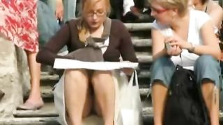 Look up the skirt of a beautiful babe in glasses--_short_preview.mp4