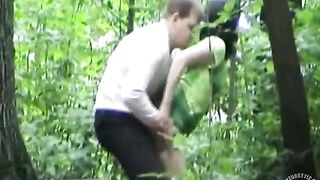 Drunken friends have a quick doggystyle coitus in the woods--_short_preview.mp4