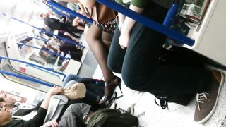 Man feels aroused when capturing lady's legs in the metro--_short_preview.mp4