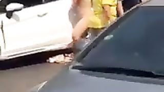 Crazy woman exposes her naked body on the road--_short_preview.mp4