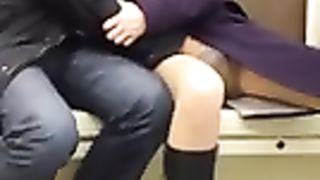 Fingering his girlfriend on the subway train--_short_preview.mp4