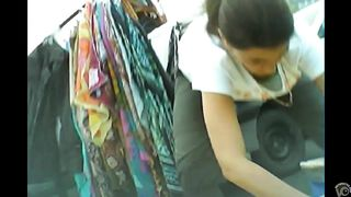 Saleswoman bends over to pick something up and revealed her rack--_short_preview.mp4