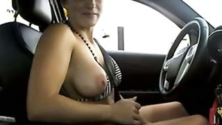 Beautiful busty flasher drives in bikini and nude--_short_preview.mp4