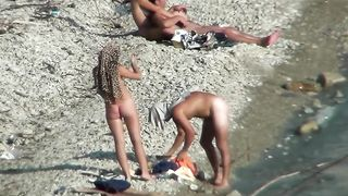 Lazy guy cums into a girlfriend's pussy on the nudist beach--_short_preview.mp4