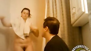 Wife takes a shower while her hubby takes a shit--_short_preview.mp4