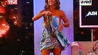 Great-looking television anchorwoman changes her clothes in the studio--_short_preview.mp4