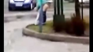 Blonde chick peeing on a public street corner--_short_preview.mp4
