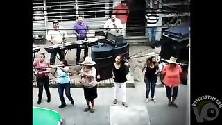 Topless Latin American ladies dancing in the streets--_short_preview.mp4