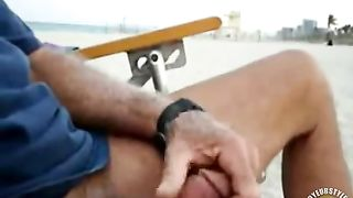Stroking my dick on the public beach--_short_preview.mp4