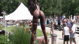 Stripper babes work an outdoor party and pose for pics--_short_preview.mp4