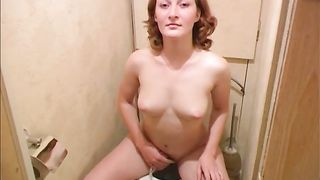 Redhead cute white chick from Russia undresses and pisses in the toilet room--_short_preview.mp4