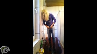 Masked crossdresser pisses in his jeans and wanks--_short_preview.mp4