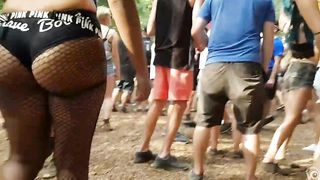 Bootylicious wench walks around in a crowd in mesh stockings--_short_preview.mp4