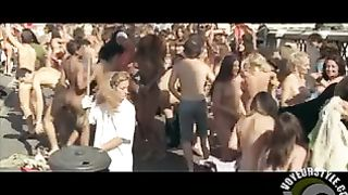 Nudist party on a bridge with dancing--_short_preview.mp4