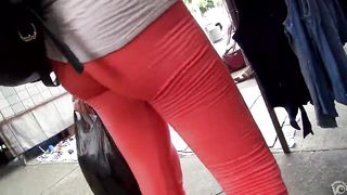 Yummy cameltoe on the red yoga pants--_short_preview.mp4