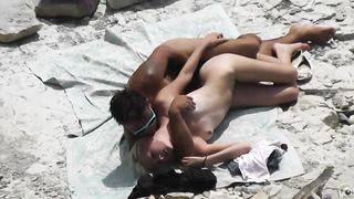 Soft and gentle girl has some fun with her boyfriend at the beach of Crimea--_short_preview.mp4
