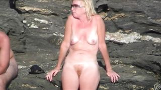 Naked blonde milf on the beach has a nice ginger bush--_short_preview.mp4