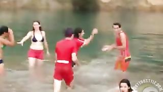 Friends swim in the lake in their underwear--_short_preview.mp4