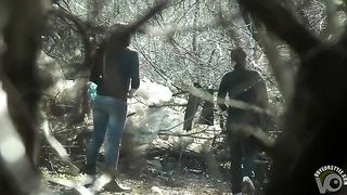 Women in turtlenecks and jeans relieve themselves in the woods--_short_preview.mp4