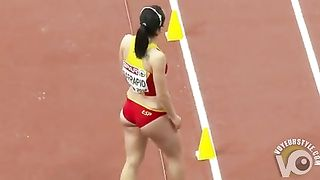 Raven-haired athletic babe competes in long jump--_short_preview.mp4