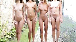 Four nymphs pose bare on a breezy day--_short_preview.mp4