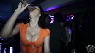 Club babe chugs a beer in slow motion--_short_preview.mp4