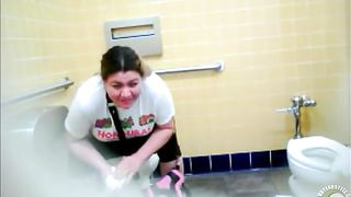 Pretty fat mommy enjoys pooping hard in the ladies room--_short_preview.mp4