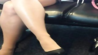 Charming lady with smoking hot legs at the airport--_short_preview.mp4