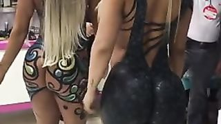 Two ravishing bombshells appear in public with body paint on--_short_preview.mp4