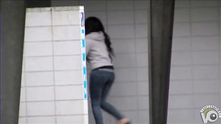 Desperate chick wetting her jeans on the street--_short_preview.mp4