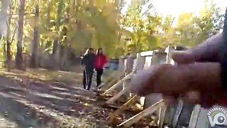 Masturbating his big cock on the walking path--_short_preview.mp4