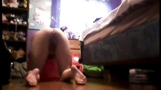 Bent over amateur shows her winking asshole--_short_preview.mp4