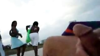 Fapping to fascinated black women at the beach of Miami--_short_preview.mp4