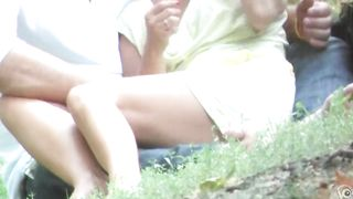 Blonde girlfriend in the park had no panties at all!--_short_preview.mp4