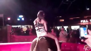 Fabulous babe has her crotch revealed while riding the bull--_short_preview.mp4
