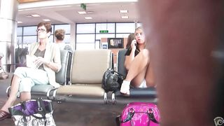 Curvy girl's cameltoe got taped at the airport--_short_preview.mp4