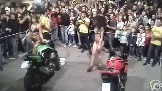 Bike washing competition with sexy babes in swimsuits--_short_preview.mp4