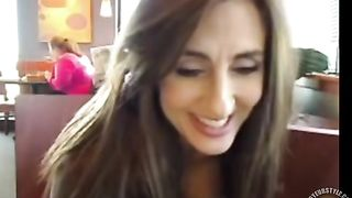 Busty lady flashes her breasts in the coffee shop--_short_preview.mp4