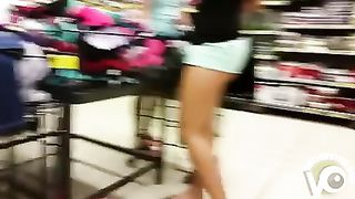 Tiny booty shorts expose her ass in public--_short_preview.mp4