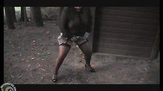 Slutty outfit on a wife urinating in the woods--_short_preview.mp4