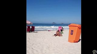 Tanned cutie has her big butt recorded on the beach of Rio de Janeiro--_short_preview.mp4