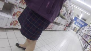 Cougar wearing a skirt has her white panties recorded--_short_preview.mp4