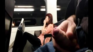 Train passenger can't believe what the guy next to her is doing!--_short_preview.mp4