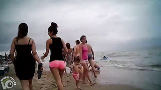 Pink booty shorts on a nice ass at the beach--_short_preview.mp4