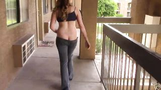 Seductive brunette demonstrates her ass crack--_short_preview.mp4